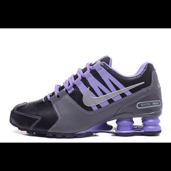 6a00d473d8c6ab Women s Black   Purple Nike Shox Running Shoes